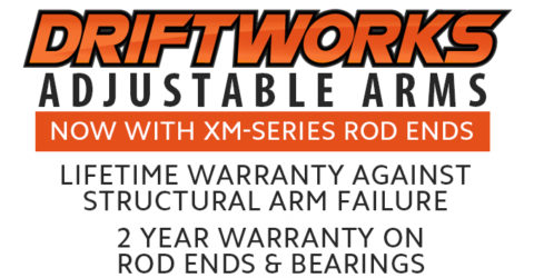 Driftworks Alignment Arms: New Awesome Prices & High Quality Rod Ends