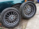 "Bmw style 32 18"" wheels - pair only - e38 dish -£125ono"