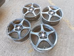 "4x100 15"" Toyota Mr2 genuine staggered alloy wheels (mx5, e30, volvo drift wheels)"