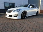 """Toyota Crown hybrid on Coilovers,Ssr 20"""" ."""