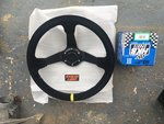 Driftworks suede steering wheel + HKB boss for MX5