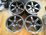 NEW 18x9.5j Volk Racing TE37 SL Rays Alloys Wheels R32 R33 R34 Skyline GTR Mitsubishi Evo 8 9 10 X