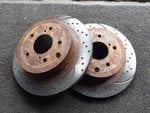 Nissan rear brake disks