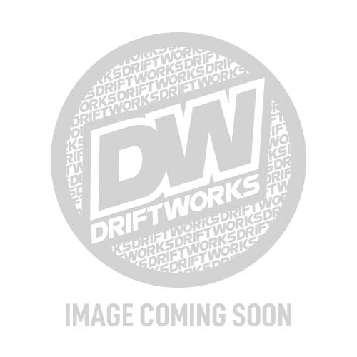 Personal Grinta Kingston Leather Steering Wheel 350mm with Red/Green/Yellow Stitching and Black Spokes