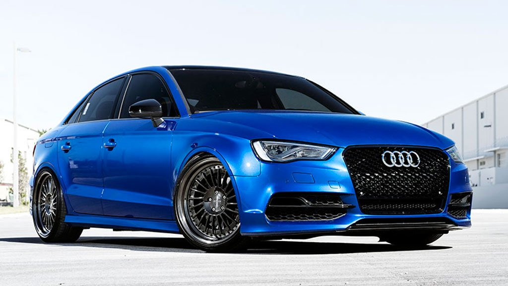 Audi S3 - Forged IND-T ,Polished Candy Black Wheels