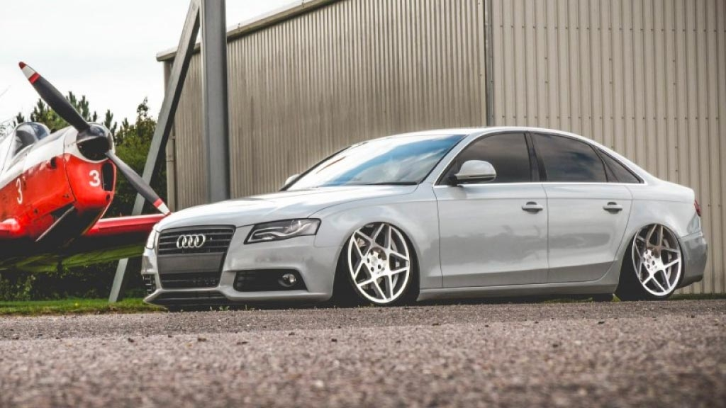 Audi A4 - 3SDM 0.08 Silver Cut Wheels