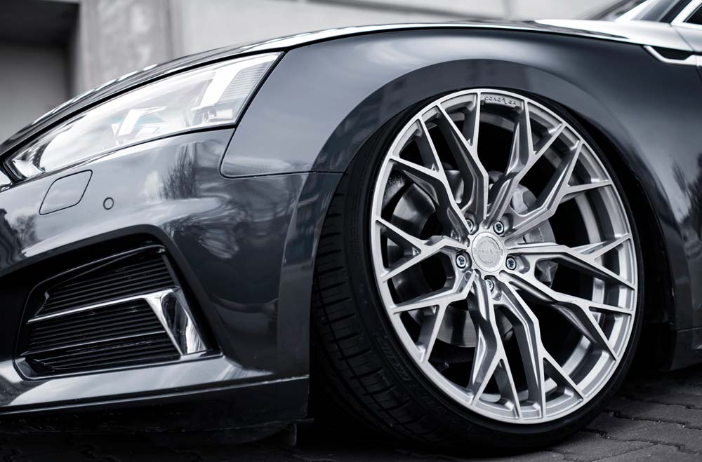 Audi S5 - CVR1 Brushed Titanium Wheels