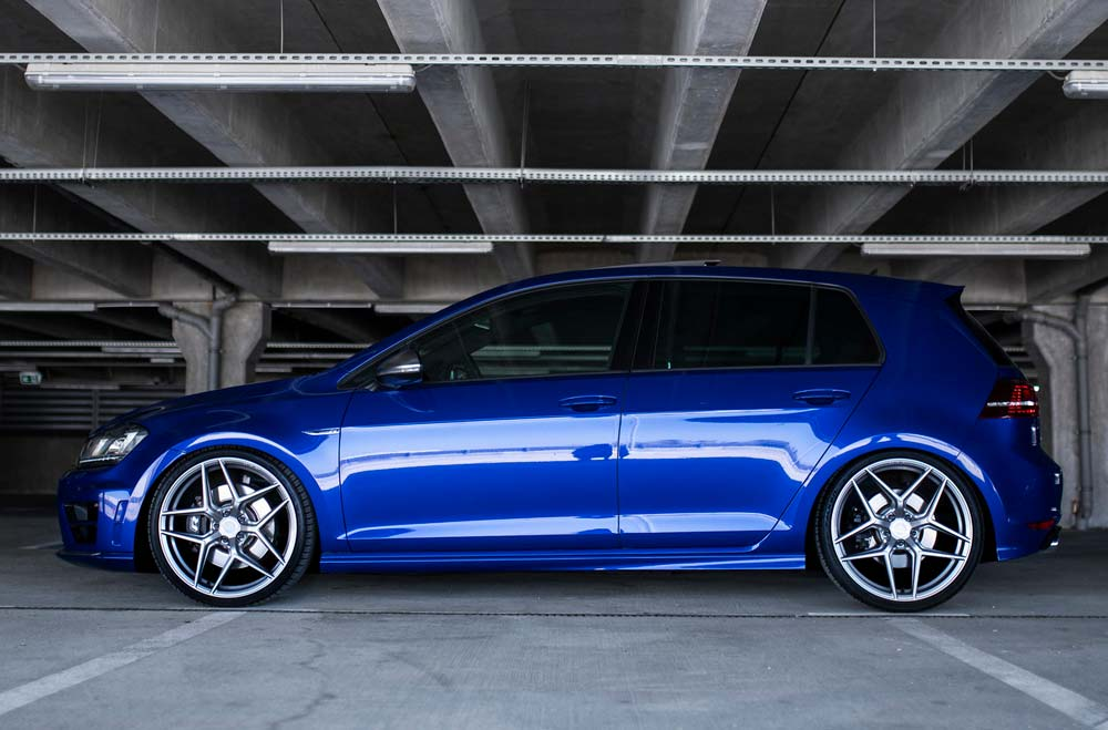 VW Golf Mk7 R - CVR2 Brushed Titanium Wheels